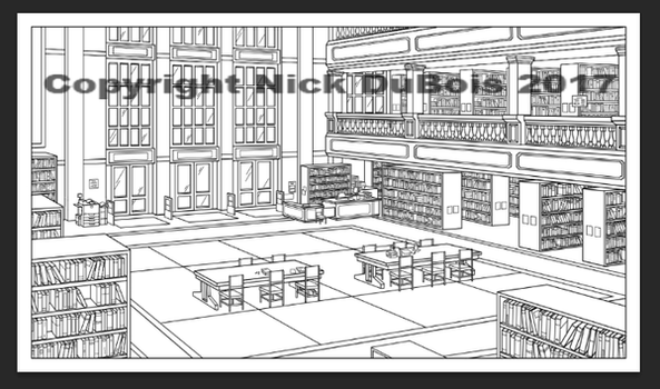 HS Library Copyright Nick DuBois 2017 by NDuBdesigns