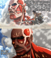 Attack on Colossal Bison Titan Tuesday by toadking07