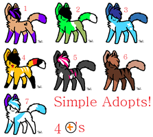 Simple Adopts by BlackWolf1112-ADOPTS