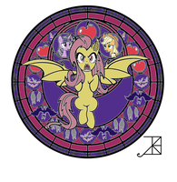 Flutterbat lineart colored by YugiohPonyAvengers