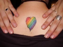 Tattered Rainbow Heart by ASPHYX1A