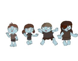 Zombie Kids by Basher-the-Basilisk