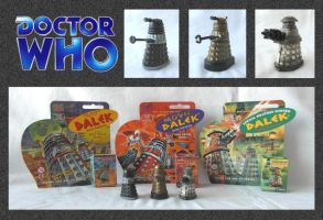Doctor Who - Dalek Rolykins by mikedaws