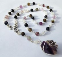 Wire-Wrapped Fluorite Witch's Ladder by FaerieForgeDesign