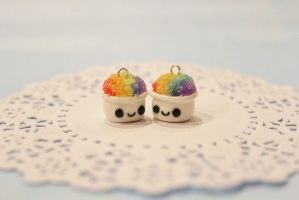 Polymer Clay Kawaii Snow Cones by CharmStop