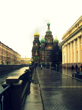 Church of Our Savior on Spilled Blood by silverdeerr
