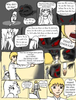 You and Jesus Coloring Comic 2 Guilt's Lies (Pt 1) by Peridot-for-Christ