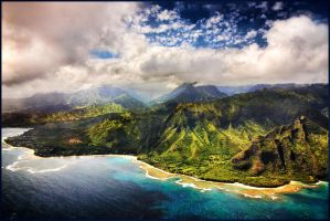 Bird's Eye view of Kauai by kimjew
