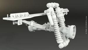 Sno-Fox Cat Suspension001 - WIP by PaulV3Design
