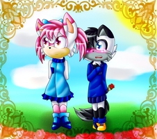 flowers for her..:CE:.. by RebekatheWolf74