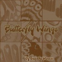 Butterfly wing icon brushes by Shadoweddancer