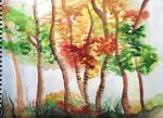 Autumn Trees in Watercolor by NozomiWhiteWolf