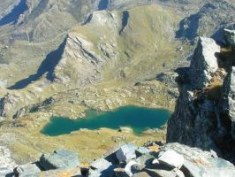 Lake Superiore from the Mount Rocce alte del Losas by FraterSINISTER