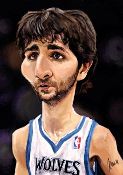 Ricky Rubio caricature by jupa1128