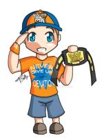 chibi - wwe - john cena by percylove