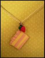 Subtle Strawberry -- Necklace by poketheyolk