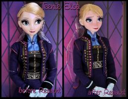 repainted ooak teenie elsa limited edition doll. by verirrtesIrrlicht