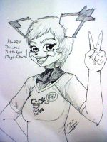 Happy Belated B-Day Megs-Chan by zmorphcom