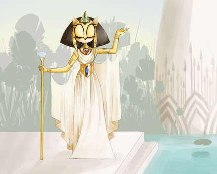 MM Round 3 - Bastet, Goddess of Cats by silvershadowhdgehog