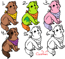 Puppy Adoptables by ItsLonely