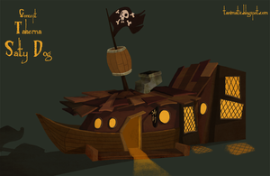 Salty Dog Tavern -Concept- by Tanimatic