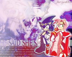 SonAmy Wallpaper by CreamCup-A-Cake