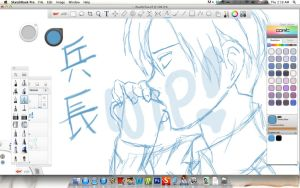 Sketchbook Pro Screenshot...Rivaille WIP by ChiisaiKabocha17