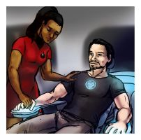 Uhura the handler and Tony the doll by jameson9101322