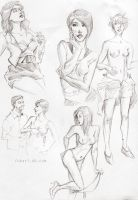sketches from magazine by Fukari