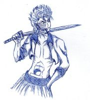 Grimmjow Doodle by lauu7