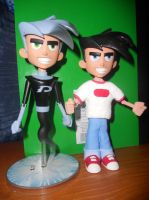 Danny Phantom and custom Danny Fenton by 19ana89