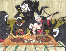 Kakazu Hidan and the 4 Beasts by Ito-Hiruko