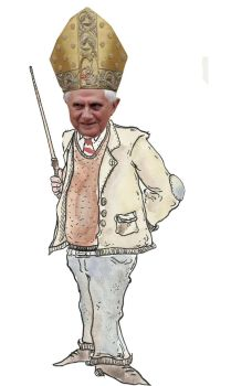 Pope Benedict XVI, leave us kids alone by stignr