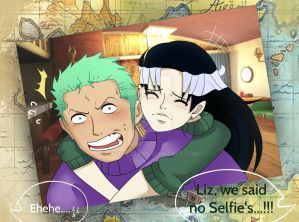 [Gift] Ai x Zoro | No Selfies by LiziMew