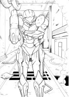 Metroid Commission Inks by JorgeSantiagoJr