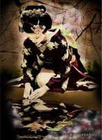 Geisha Reflection (digital portrait) by eyeqandy