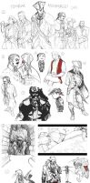 :sketchdump14: Templars and Tyranny by ufficiosulretro