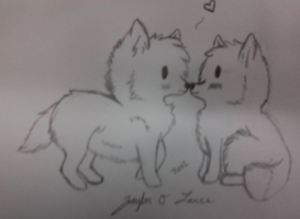 Jay and I as Wolves by TayMay135