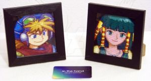 Justin and Feena Portraits Framed by Blackmageheart