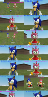 Amy and Sonic inflating and bumping by SRX1995