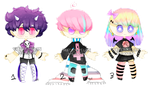 adoptables set {set price} {3/3 open} PRICE DOWN by WATERMELONHEAVEN