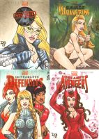 Marvel NOW! sketch cards 2 by mechangel2002