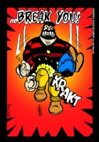 BLUTO BREAKS POPEYE by angusto