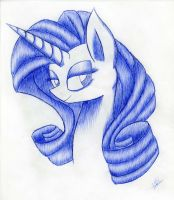 Rarity sketch by Kobra333