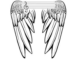 Music Wings Tattoo (Masculine) by JessCurious