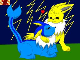 Jolteon and Vaporeon by Marquis2007