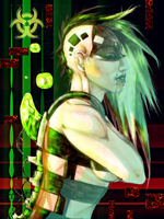 Cyberpunk_I'll leave all the pain behind by Inriah