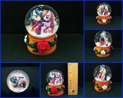 Sculpts Project: Cadence/Shining Armor Snowglobe by minnichi