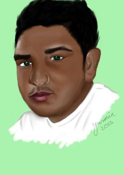 Drawing of friends: Sanjay by 4ureyesonly