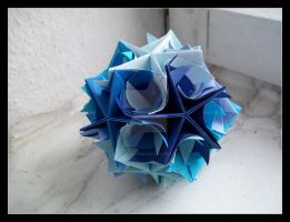 Twirl Kusudama by lonely--soldier